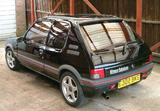 peugeot 205 1 9 gti nitrous turbo. Black Bedroom Furniture Sets. Home Design Ideas